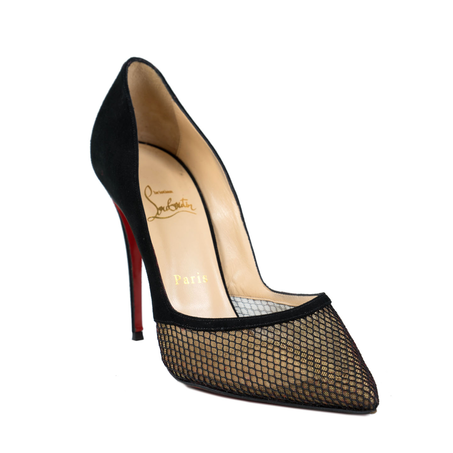 competitive price 63038 e03b8 Christian Louboutin Miluna Black Pumps Size 38.5 - LabelCentric