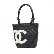 Chanel Black Quilted Ligne Cambon Small Tote