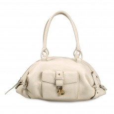 Salvatore Ferragamo Textured Leather Ganchio Shoulder Bag