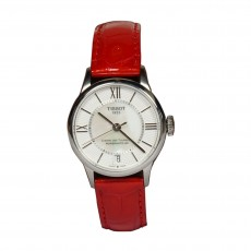 Tissot MOP Dial Red Leather Strap Watch