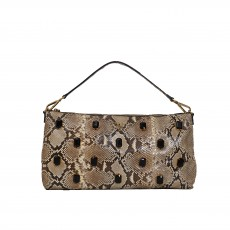 Prada Pietre Shoulder Bag Embellished Python