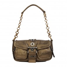 Prada Metallic Bronze Sandalo Mini Pocket Shoulder Bag