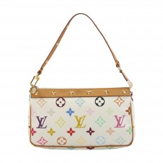 Louis Vuitton White Monogram Multicolor Accessories Pochette-1