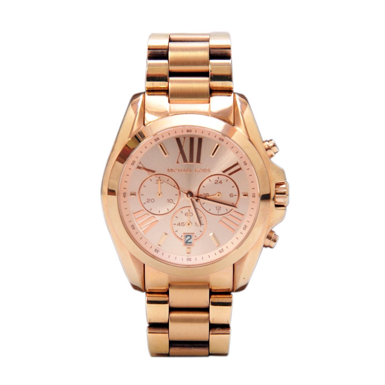 4a668a7b3817 Michael Kors Oversized Bradshaw Rose Gold Watch - LabelCentric