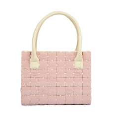 Chanel Vintage Logos Pink Puzzle Hand Bag- 2