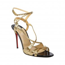 "af249b727 Christian Louboutin ""Audrey"" Sandals Gold Size 39"