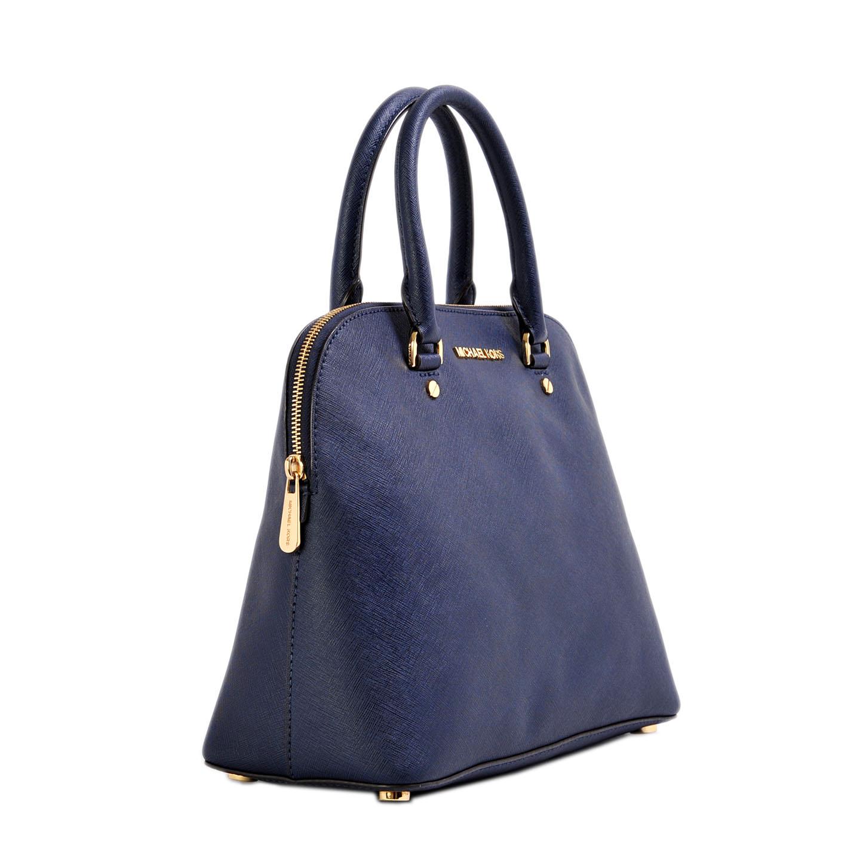2014d6d87136af Michael Kors Cindy Large Leather Dome Bag - LabelCentric