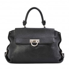 Salvatore Ferragamo Pebbled Leather Medium Sofia Bag - 1