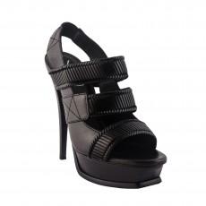 YSL Woven Slingback Platform Sandals Size 38  02