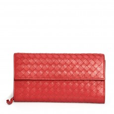 Bottega Veneta Leather Intrecciato Wallet 01