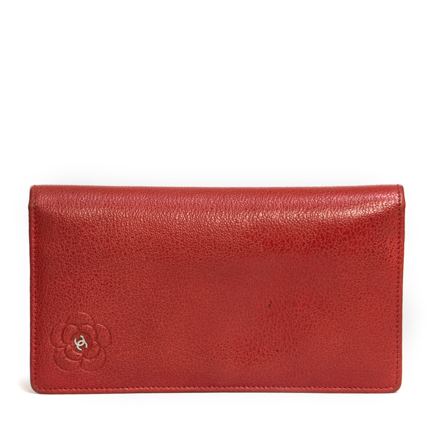 Chanel Red Camellia Vertical Wallet-1