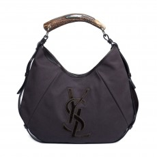 Yves Saint Laurent Fabric Mombasa Horn Hobo-1