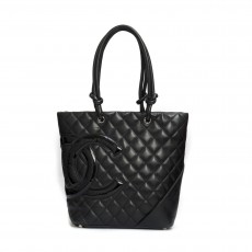 Chanel Black Quilted Ligne Cambon Tote Bag 01