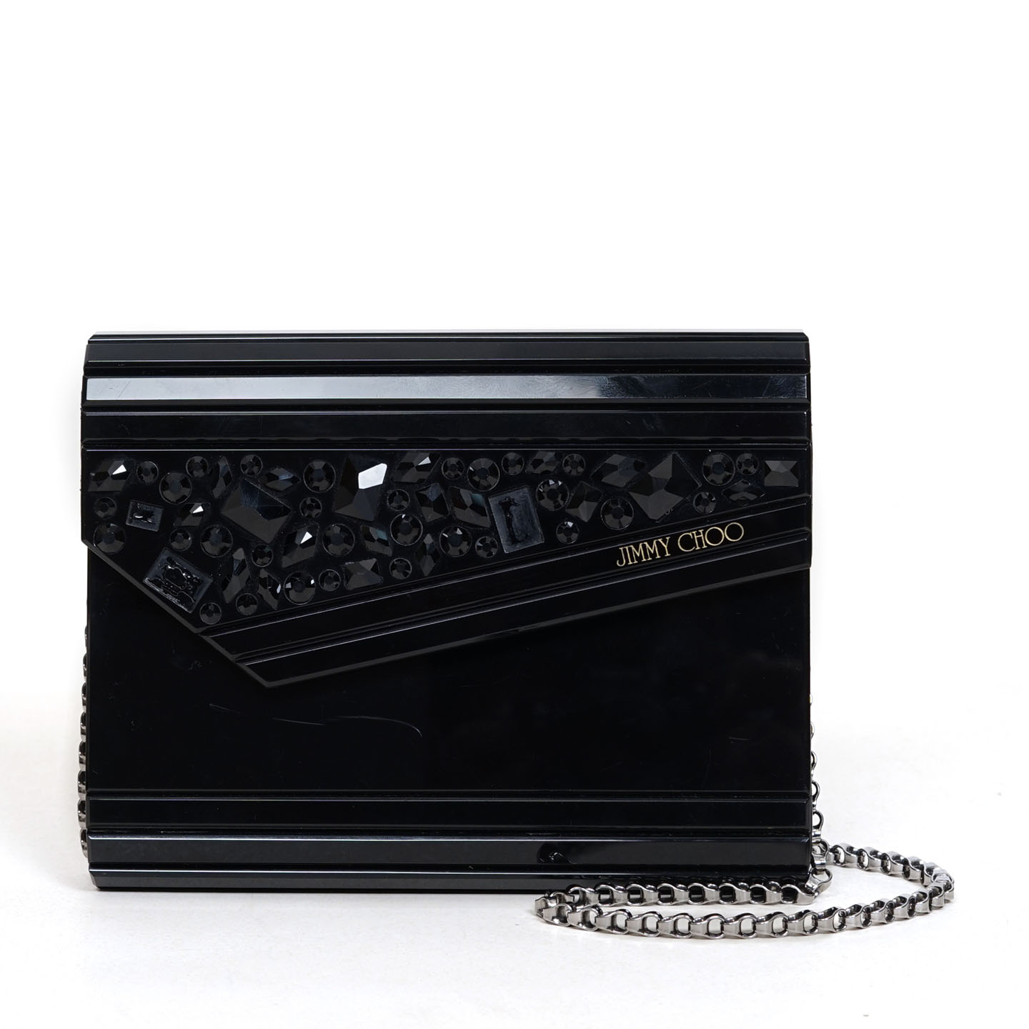 74de95ea39c9 Jimmy Choo Embellished Black 'Candy' Clutch - LabelCentric
