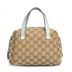 Gucci GG Canvas Cosmetic Handle Bag - 02
