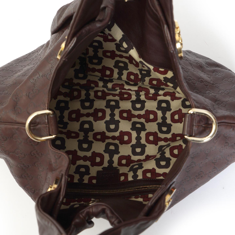 ac3018c1459 Gucci Brown Guccissima Leather  Hysteria  Tote - LabelCentric