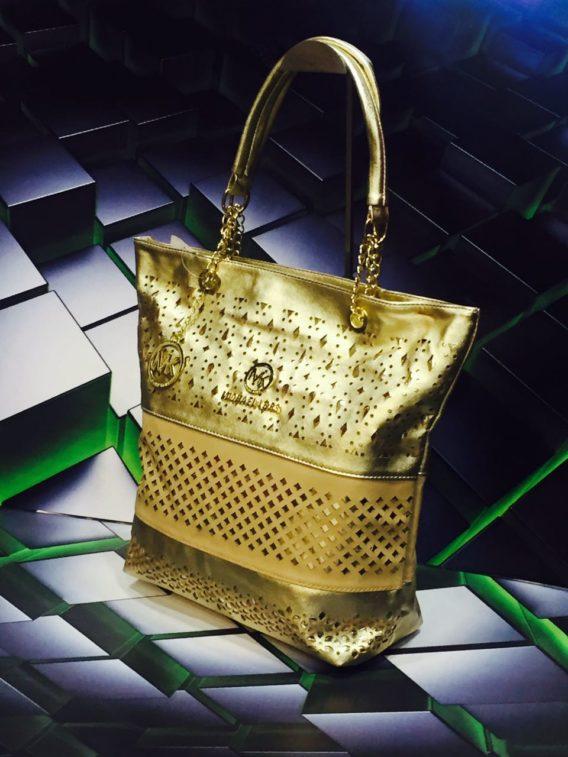 MK Like Metalic CUT WORK Ladies Bag