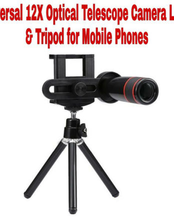 12X Optical Zoom Telescope Mobile Camera Lens Kit with Tripod and Adjustable Holder