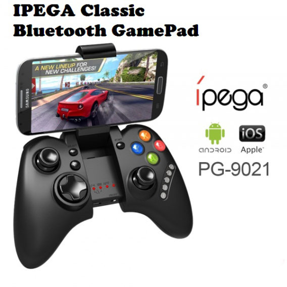 Ipega Bluetooth Game Controller for IOS and Android Gaming Accessory Kit (Black, For PC, Mac OS)
