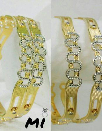 2 Pc Fancy Bangles for Ladies with Stones