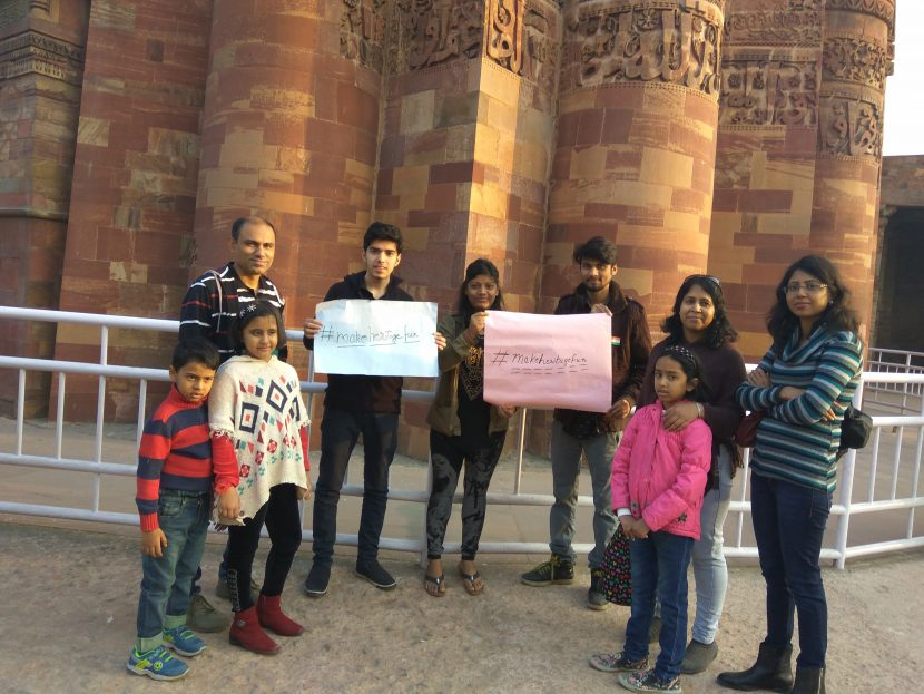 Spreading the campaign with a family of visitors