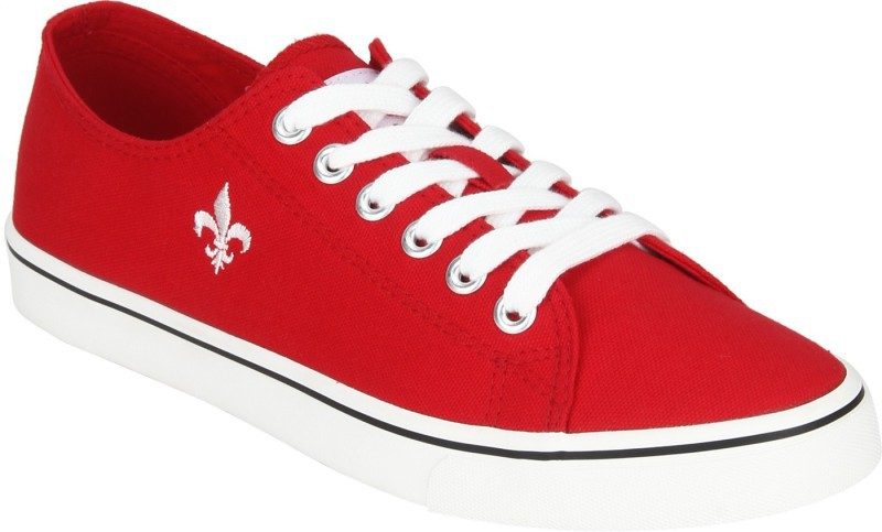 Red Tape Canvas Shoes For Men(Red
