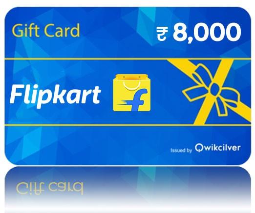 Flipkart Gift Card -Rs. 8000