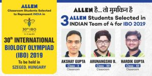 ALLEN Students Outshine in International Biology Olympiads IBO 2019
