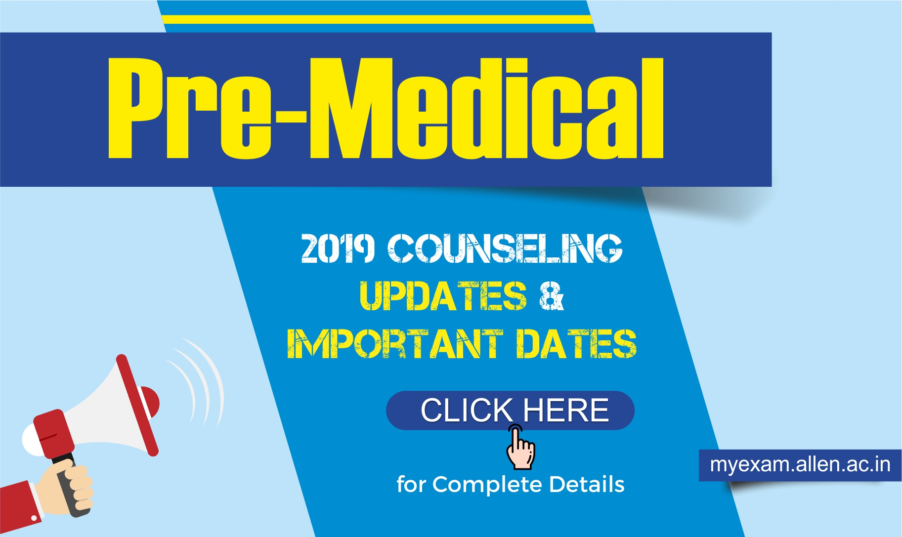 pre medical 2019 counseling neet aiims notification