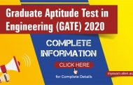 Gate 2020 : Check Important Dates, Eligibility, Syllabus, Pattern, Admit Card, Application Form