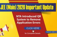 JEE Main 2020 Update | NTA Introduced QR system to remove Application Errors