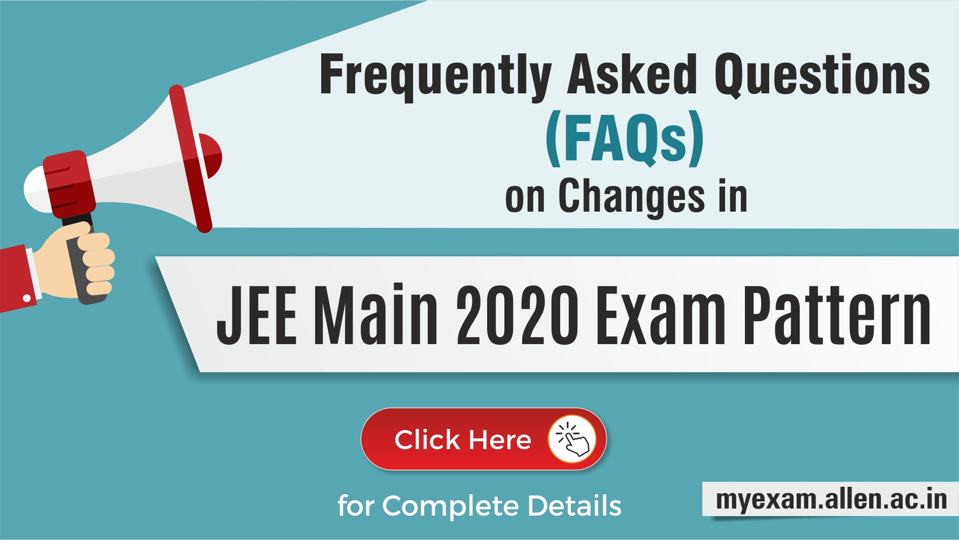 Changes in JEE Main 2020 Exam pattern
