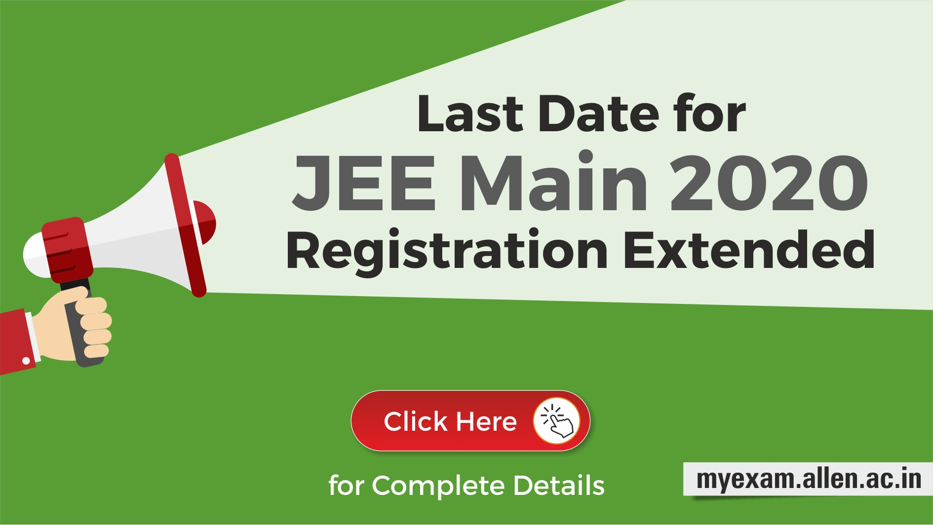 JEE Main 2020 Registration Date extended