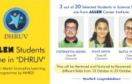 "ALLEN Students Shine in ""DHRUV""-Pradhan Mantri Innovative Learning Programme-by MHRD"