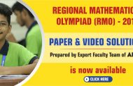 Regional Mathematical Olympiad (RMO) 2019 Paper Solutions & Video Solutions by ALLEN's Experts