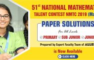 NMTC Mains 2019 Paper & Solutions by ALLEN Career Institute experts now available