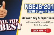 IJSO Stage-1 (NSEJS) 2019 Answer Key & Paper Solutions by ALLEN will be available on 17 Nov. 2019