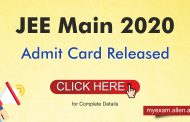 JEE Main 2020 Admit Card released- Check here to download