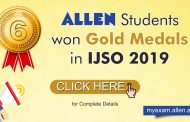 Students of ALLEN Career Institute top International Junior Science Olympiad 2019