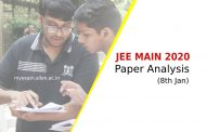 JEE Main 2020 Paper Analysis for 8th January Exam. Maths paper was lengthy in both the shifts