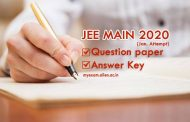 Answer Key of JEE Main (Jan) 2020 released by NTA, Challenge Answer Key till Jan 15