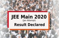 JEE Main 2020 Jan Attempt Result Declared. Know the state wise toppers.
