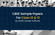 CBSE Sample Papers for Class 10 & Class 12 by ALLEN Career Institute