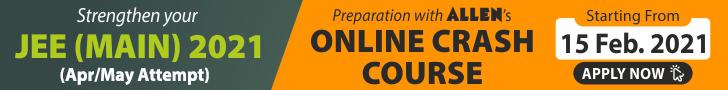 ALLEN JEE Main 2021 Online Crash Course