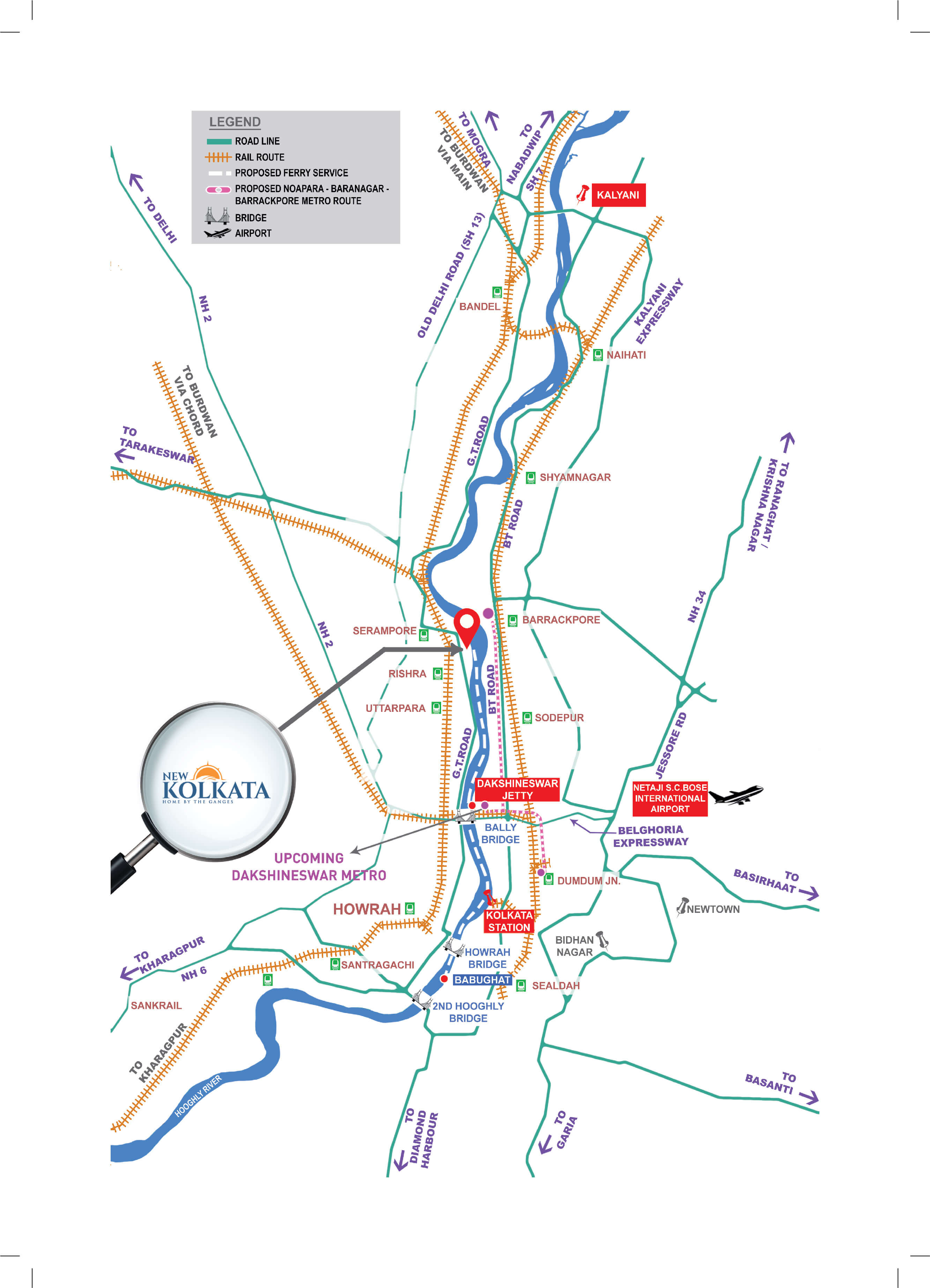 New Kolkata Route Map