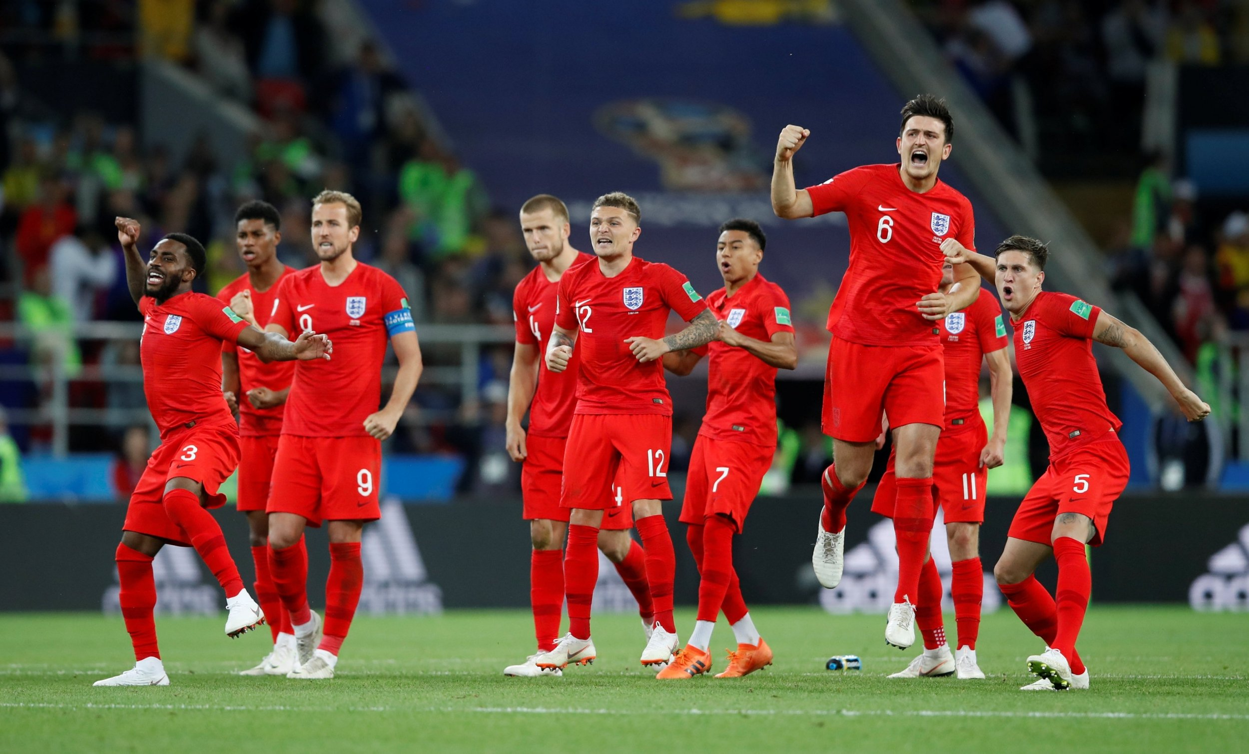 England qualifies for the quarter finals after beating Colombia