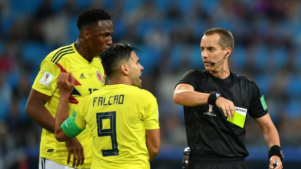 Colombia Star, Accuses Referee, Mark Geiger For Favouring England
