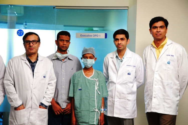 Three patients with chronic liver disease underwent liver transplantation at Narayana Health City