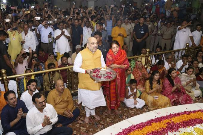 Amit Shah Offers Prayers At Jagannath Temple Ahead Of The Rath Yatra
