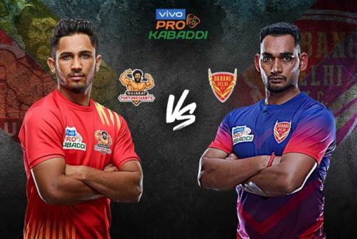 Gujarat Fortunegiants Face Dabang Delhi K.C On Thursday